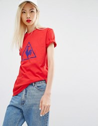 Le Coq Sportif Tshirt With Largo Logo Red