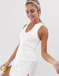 South Beach Tennis Vest In White