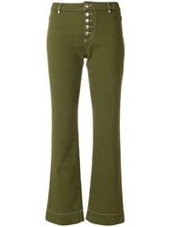 Alexa Chung Cropped Jeans Green
