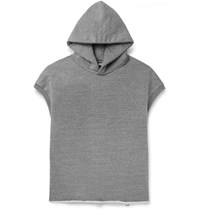 Fear Of God Oversized Loopback Cotton Blend Jersey Hoodie Gray
