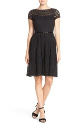 Ellen Tracy Women's Eyelet Lace Fit And Flare Dress