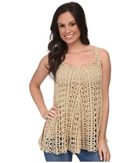 Stetson 9614 Crochet Lace Tank White Women's Blouse