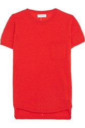 Velvet By Graham And Spencer Cashmere Top Tomato Red
