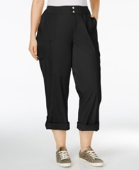 Styleandco. Style Co. Plus Size Convertible Cargo Pants Only At Macy's Deep Black