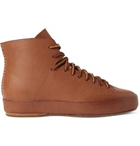 Feit Leather High Top Sneakers Brown