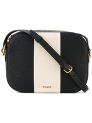 Bally Stripe Detail Shoulder Bag Women Calf Leather One Size Black