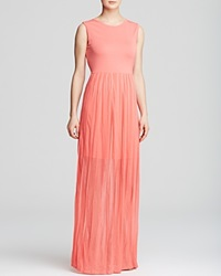 French Connection Maxi Dress Carnival Ruffle Coral Beach