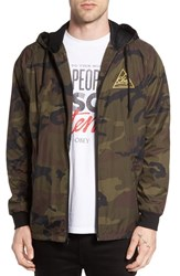 Obey Men's Next Round 2 Hooded Coach Jacket