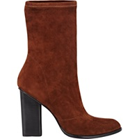 Suede Gia Low Boots Brown