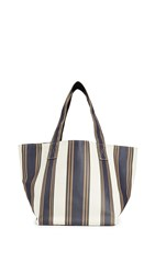 Trademark Stripe Small Grocery Tote Black Multi