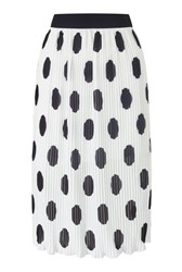 James Lakeland Polka Dot Skirt White