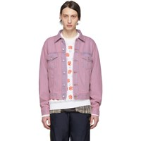 Acne Studios Pink And Blue Bla Konst Denim 1998 Jacket