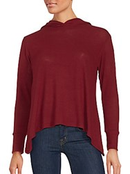 Candc California Rebecca A Line Hooded Pullover Wine Berry
