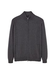 Mango Men's Cotton Cashmere Blend Cardigan Grey