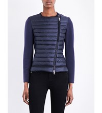 Moncler Maglia Quilted Shell Jacket Navy