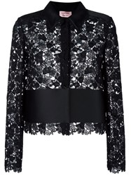 Lanvin Embroidered Panel Shirt Black
