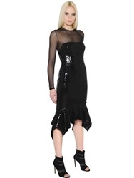 Alexandre Vauthier Sequins And Tulle Stretch Dress