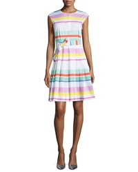 Kate Spade Multicolored Cape Stripe Shirtwaist Dress Women's
