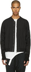 The Viridi Anne Black Zip Up Bomber Jacket