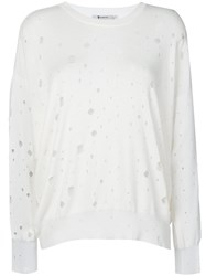Alexander Wang T By Oversized Hole Detail Sweater Women Nylon Viscose M White