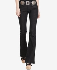 Polo Ralph Lauren High Rise Flared Jeans True Black Wash