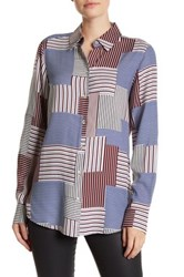 Foxcroft Patchwork Long Sleeve Shirt Multi