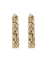 Rosantica Brass Volutta Rope Earrings Metallic
