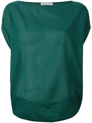 Stefano Mortari Flared Blouse Green