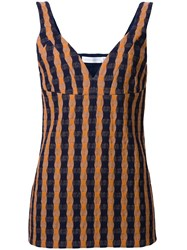 Victoria Beckham Gingham Cami Top Yellow Orange