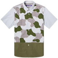 Junya Watanabe Man Short Sleeve Cut And Sew Camo Shirt Multi