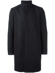 Theory Concealed Fastening Mid Coat Black