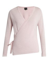 Pepper And Mayne Ballet Wrap Cashmere Cardigan Light Pink