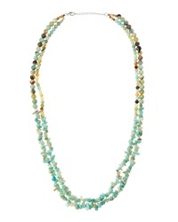 Panacea Mixed Double Strand Amazonite Bead Necklace Mint