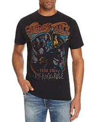 Eleven Paris Aerosmith Let Rock Rule Graphic Tee Vintage Black
