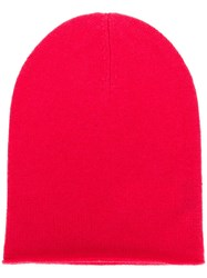 Allude Fine Knit Beanie Pink And Purple