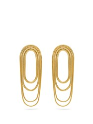 Fernando Jorge Yellow Gold Parallel Earrings