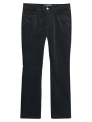 Violeta By Mango Flared Velvet Trousers Black