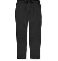 Tomas Maier Tapered Cotton Trousers Black