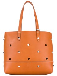 Sonia Rykiel By Studded Shopper Tote Women Leather Metal One Size Nude Neutrals