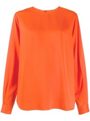 Joseph Long Sleeve Flared Top Orange