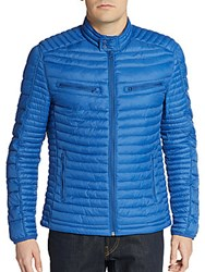 Saks Fifth Avenue Modern Fit Quilted Puffer Jacket Blue