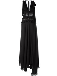 Elie Saab Flared Evening Dress Black
