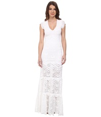 Nightcap Spanish Lace Deep V Gown White Women's Dress