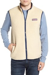 Vineyard Vines Harbor Regular Fit Fleece Vest Camel