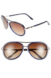 Women's Bcbgmaxazria 'Divine' 59Mm Sunglasses Navy Blue