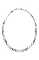 Majorica Women's Graduated Round Simulated Pearl Necklace