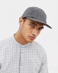Selected Homme 5 Panel Twill Cap Grey
