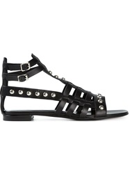 Saint Laurent Studded Roman Sandals Black