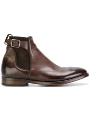 Alberto Fasciani Buckled Chelsea Boots Calf Leather Leather Rubber 42.5 Brown