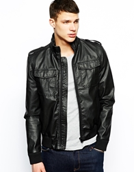 Barney's Originals Barney's Leather Look Jacket Black